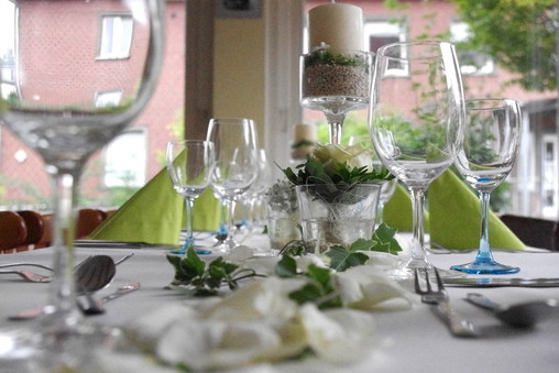 Dekoration Hochzeit, Blumenbouquet, Hochzeitfeier